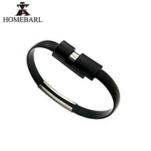 HOMEBARL Portable USB Cable Sync Data Bracelet Wrist Band Charger Line For iPhone SE 5S 6S 7 Plus For Samsung Android Micro B64