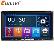 Eunavi Double 2 Din Universal Car Dvd Player Stereo Radio With Gps Navigation Head Unit Cd Mp3 Usb Bluetooth Dual Core In Dash(China)