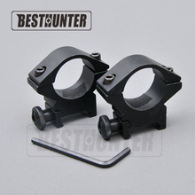 "Hunting Gun Accessories 25.4mm 1""/2PCs Low Wide Profile Picatinny/Weaver Rings,Hunting Riflescope 20mm Rail Scope Mount"