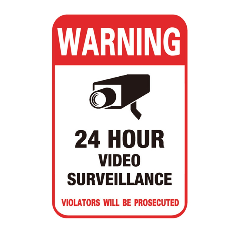*FAST SHIP* HOME SECURITY CAMERA ALARM WARNING YARD SIGNS+SMILE DECAL STICKERS