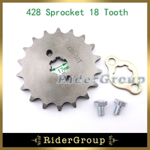 428 17mm 18 Tooth Front Engine Sprocket Gear For 50cc 70cc 90cc 110cc 125cc 140cc 150cc 160cc Dirt Pit Bike ATV Lifan YX Engine(China)