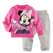 Children's pajamas set Spring&autumn fashion cartoon baby girls clothing set 100% cotton girl's pyjamas Sleepwear gift p013