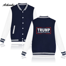 Buy Aikooki Donald Trump Fashion Jacket Coat Women Men USA Presidential Make America Great Clothes Male Female Jackets Clothes for $15.90 in AliExpress store