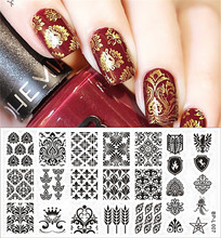 BORN PRETTY Nail Stamping Plates Vintage Damask Nail Art Stamp Template Image Plate DIY Manicure Decoration BP-L007(China)