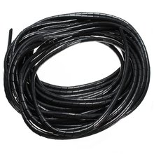 10 meters Spiral Tube Flexible Cord PC Home Cinema Cable Wire Organizer Wrap Management black White Blue New Arrival(China)