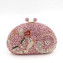 BL048 Luxury diamante evening bags colorful clutch bags women party purse dinner bags crystal handbags gemstone wedding bags(China)