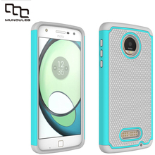 Mundulea 2 IN 1 Anti-slip Wave point Patter Cover for Motorola Moto Z Play Z Force E3 Case Active Silicone+PC Cases Shockproof