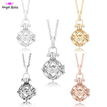 Pryme Heart Pattern Fragrance Pendants 20.5mm DIY Angel Ball Oil Cage Necklace for Women and Baby Power Jewelry NL023