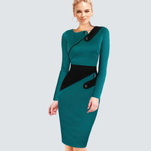 Buy Plus Size Elegant Wear Work Women Office Business Dress Casual Tunic Bodycon Sheath Fitted Formal Pencil Dress B63 B231 for $12.82 in AliExpress store