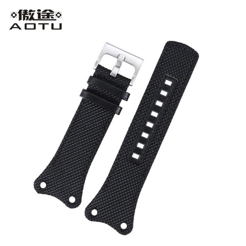 Nylon Watchbands For CALVIN KLEIN K4B381 Men Watch Straps 21MM Black Watch Band Leather Lining Watch Belt For CK Women Watch<br>