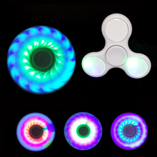 LED Light Hand Finger Spinner Fidget Plastic EDC Spinner For Autism and ADHD Relief Focus Anxiety Stress Toys Gift 7 colors