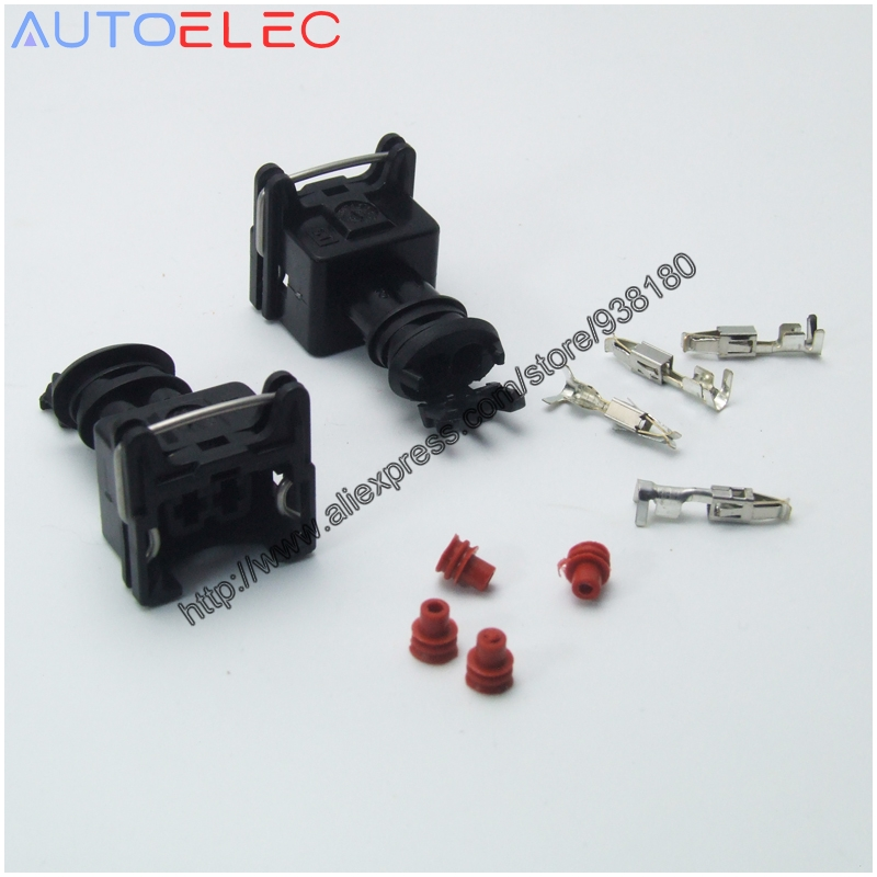 10 set EV1 282762-1 Car Waterproof 2 Pin way Electrical Wire Connector Plug automobile Fuel Injector Connectors Adapters for TE<br><br>Aliexpress