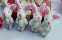 1X Mini 4CM Approx. Joint Rabbit Little Plush Stuffed TOY DOLL , Garment & Hair Accessories Decor Plush Toys Dolls