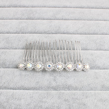Silver Bridal Hair Comb Crystal Rhinestone Wedding Prom Hair Clips