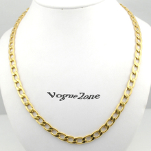 ATGO Gold Color Necklace Women Men Figaro Chains Necklace Fashion Cheap Jewelry body chain Necklaces New Gift, Party BN210