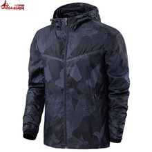 UNCO&BOROR New Fashion Men Jacket Coats outwear Men Causal Hooded Jacket Mens Thin Windbreaker Zipper Coats Outwear size L~5XL