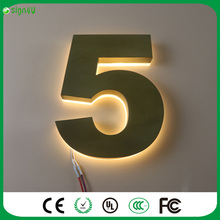 Custom lighted house number signs any size, any color, any font is available