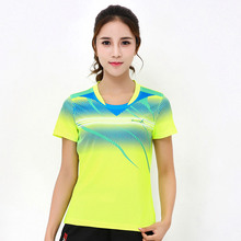 New women's breathable quick-drying sweat sweater, tennis T-shirt, table tennis short-sleeved sports badminton T-shirt, free shi