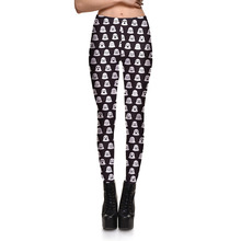Womens Digital Printing Leisure Slim Leggings Pants For Ladies Nether Printed Casual Fitness Active Skinny Pencil Trousers S-4XL(China)
