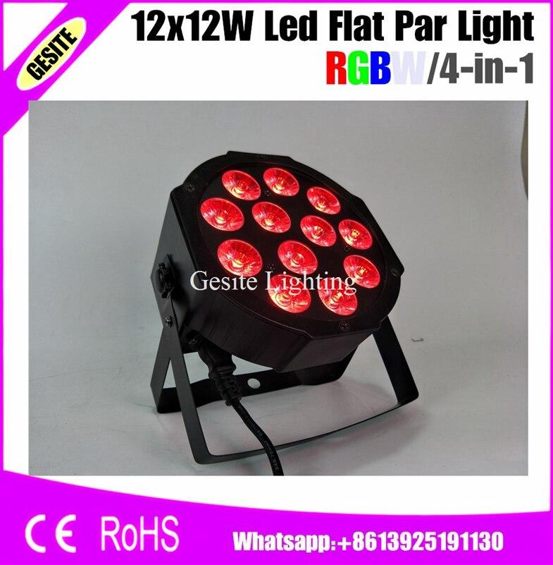 12pcs/LOT led par light 12pcs 12w 64 rgbw dmx stage lighting 4 in 1<br>
