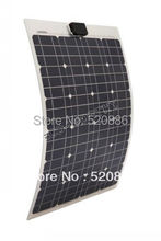 40w 18v semi-flexible mono solar panel kit for yacht boat RV camping,adventure 12v battery charger(China)