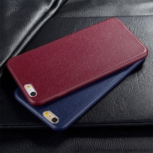 For iPhone 7 ! Super Thin Leather Pattern Texture Phone Cases For iPhone 5 5S SE 6 6S Plus Luxury Soft TPU Comfort Back Cover