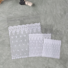 100 Pcs Lace Cookie Candy Baking Plastic Packaging Bags, OPP Self-adhesive Bag for Jewelry Accessories Party Wedding