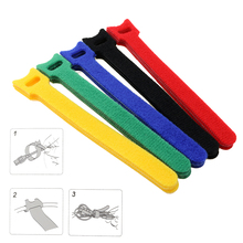 20PC/5 Bag Multifunction 15*1.3cm Magic PC TV Computer Wire Cable Ties Organizer Maker Holder Management Straps/tie Magic Tape(China)