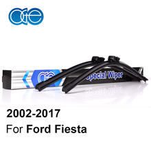 Oge Front And Rear Wiper Blades For Ford Fiesta 2002-2017 Windshield Windscreen Natural Rubber Car Accessories(China)