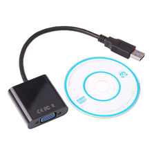2colors 1080P USB 3.0 to VGA Multi-Display Video Graphic External Cable Adapter Wire  for Win 7/8 laptop DVD player tablets