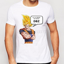 2017 New Arrivals Cool DBZ Men's Fashion T shirt Hipster Super Saiyan Tops customize Short Sleeve Tees(China)