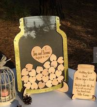 personalized Wedding Mason jar Guest book Drop box sign Guestbook alternative Guestbook Drop top party decorations