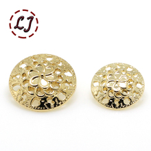 Free shipping 10pcs/lot combined zinc alloy metal buttons gold round button clothing pants sewing accessories scrapbook(China)