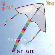 free shipping high quality blank diy kite 100pcs/lot teaching painting kite with handle line outdoor toys flying albatross kite