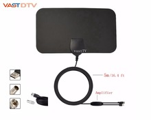50 miles 30 dbi Indoor High Gain Freeview HD Digital TV Antenna 1080P / VHF / UHF and 16.4ft Coaxial Cable for MyGica TV Tuner(China)