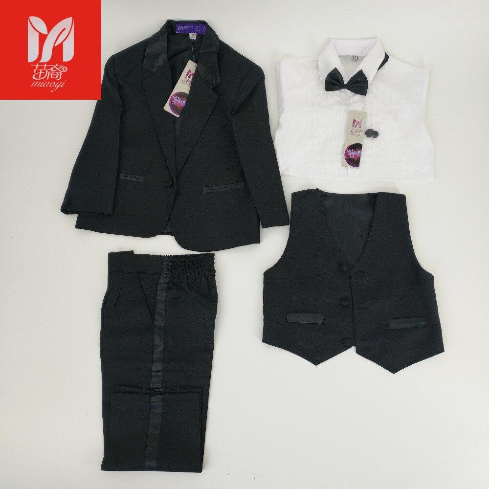 Kids/Children Black Formal Boys Wedding/Tuxedo Suits Boy Blazer Suit Mariages/Perform Dress Costume Infants Blazer 5 pcs/set<br>