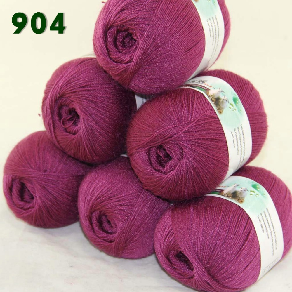 LACE Soft Crochet Acrylic Wool Cashmere Hand knitting Yarn Wrap Shawl 3x50gr 923