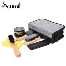 7pcs/set Luxurious Gentlemen's Leather Shoes Care Tool Professional Exquisite Polishing Cleaning Kit Shoe Cleaner Set for Travel