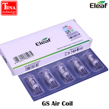 100% Original Eleaf GS Air Pure Cotton Coil Head 0.75ohm E Cigarette Replacement Coils For GS Air 2 Atomizer Tank 5pcs/lot(China)