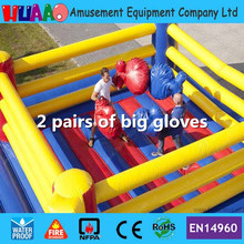 Free Shipping Inflatable Boxing Ring for Adults and Kids with 2 paris of big gloves and CE blower Bag and repair kit