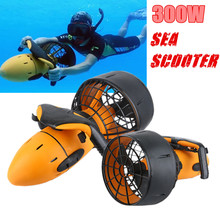 Waterproof 300W Electric Sea Scooter Dual Speed Underwater Propeller Diving Pool Scooter Water Sports Equipment Free Shipping