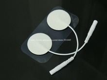Wholesale 100Pairs/Lot Tens EMS Acupuncture Electrode Pads Digital Therapy Machine Massager Diamter 3cm(China)