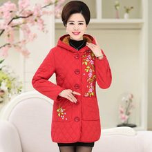 Buy Winter Women Thick Jacket Coats Fashion Hooded Flower Basic Embroidery Casual Parka Autumn Long Warm outwear Jacket Parkas for $25.82 in AliExpress store
