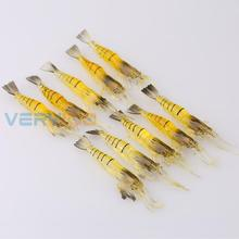 Lot 10pcs Soft Silicon King Prawn Sized Shrimp Lure 4g/95m for Bream Flathead Snapper Free Shipping