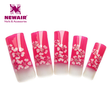 New Arrival 70x Elegant Series Colorful Red Plum Pattern Pre Design Airbrush Nail Tips Designer Acrylic Nail Art Tips wholesales(China)