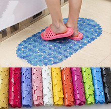 Oval Pebble PVC Bath Mat Massage Non Slip Shower Carpets Home Kitchen Toilet WC Bathtub Rubber Sucker Door Floor Rugs
