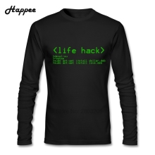 Personality Men's T-shirts Life Hack Clothes Tee Shirt Dad Long Sleeve 100% Cotton Cheap T Shirt For Men