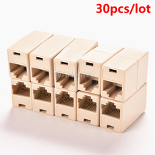 30pcs/lot Cable Joiner RJ45 Adapter Network Ethernet Lan Coupler Connector CAT 5 5E Extender Plug HY194*30