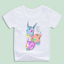 Ready Stock,Boy Girl Go Vegan Print Funny T-Shirts Summer Tops Kids Short Sleeve Children Clothes Casual Cartoon Baby T shirt(China)