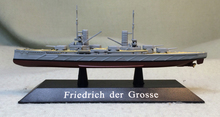 Special offer Rare out of print DEAGOSTINI 1: 1250 German Navy Friedrich der Grosse battleship model Collection model